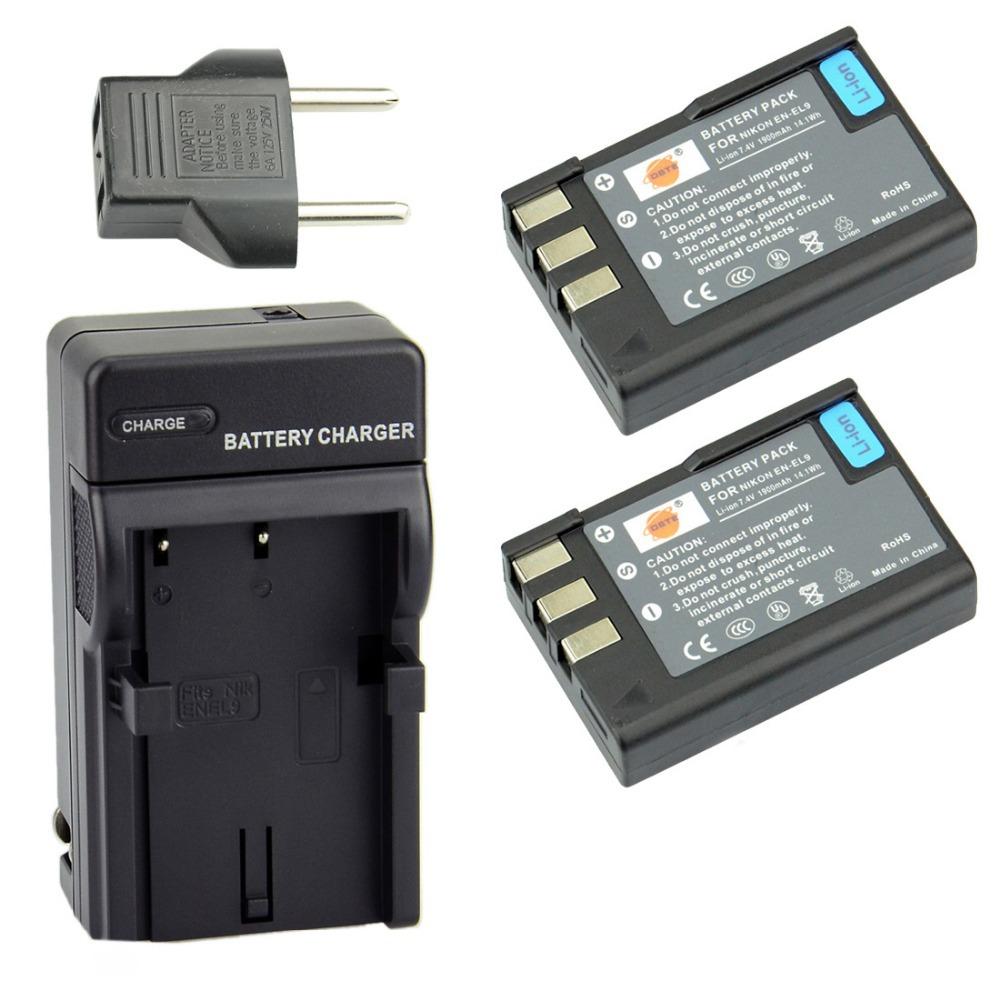 Viloso 2x Third Party En El9 Battery Charger Nikon D3000 D5000 D40 Circuit Mobile Phone D60 D40x Camera