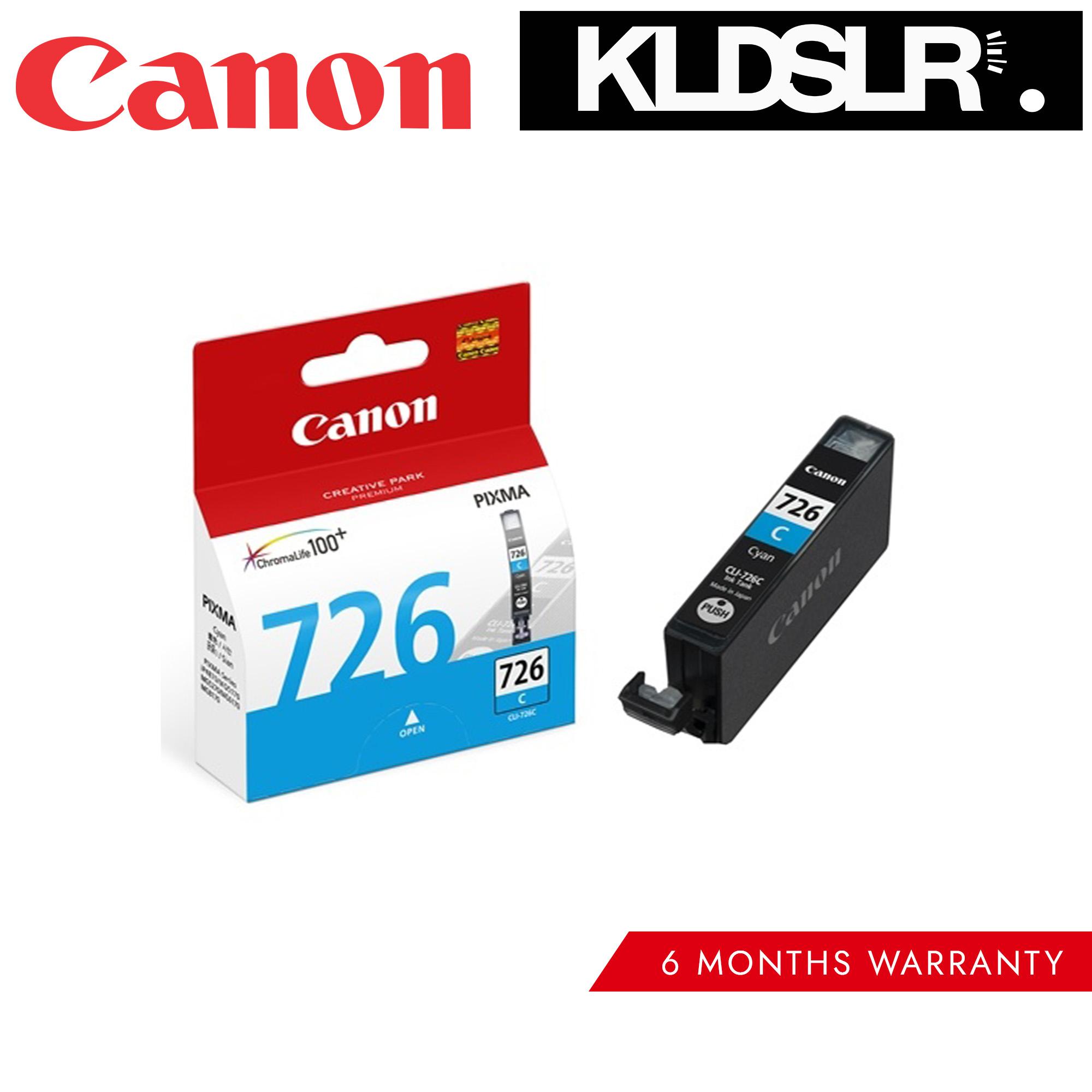 Canon Cli 726 Cyan Inkjet Cartridge Malaysia Head Ix6560